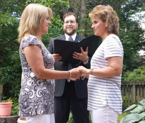 Officiating my first same-sex wedding.
